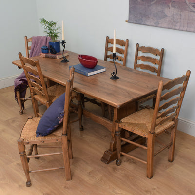 Oak Refectory Table & 6 Chairs