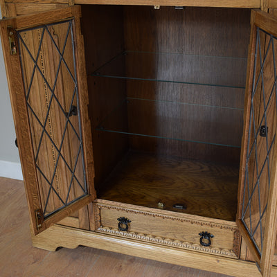 Vintage Oak Drinks Cabinet