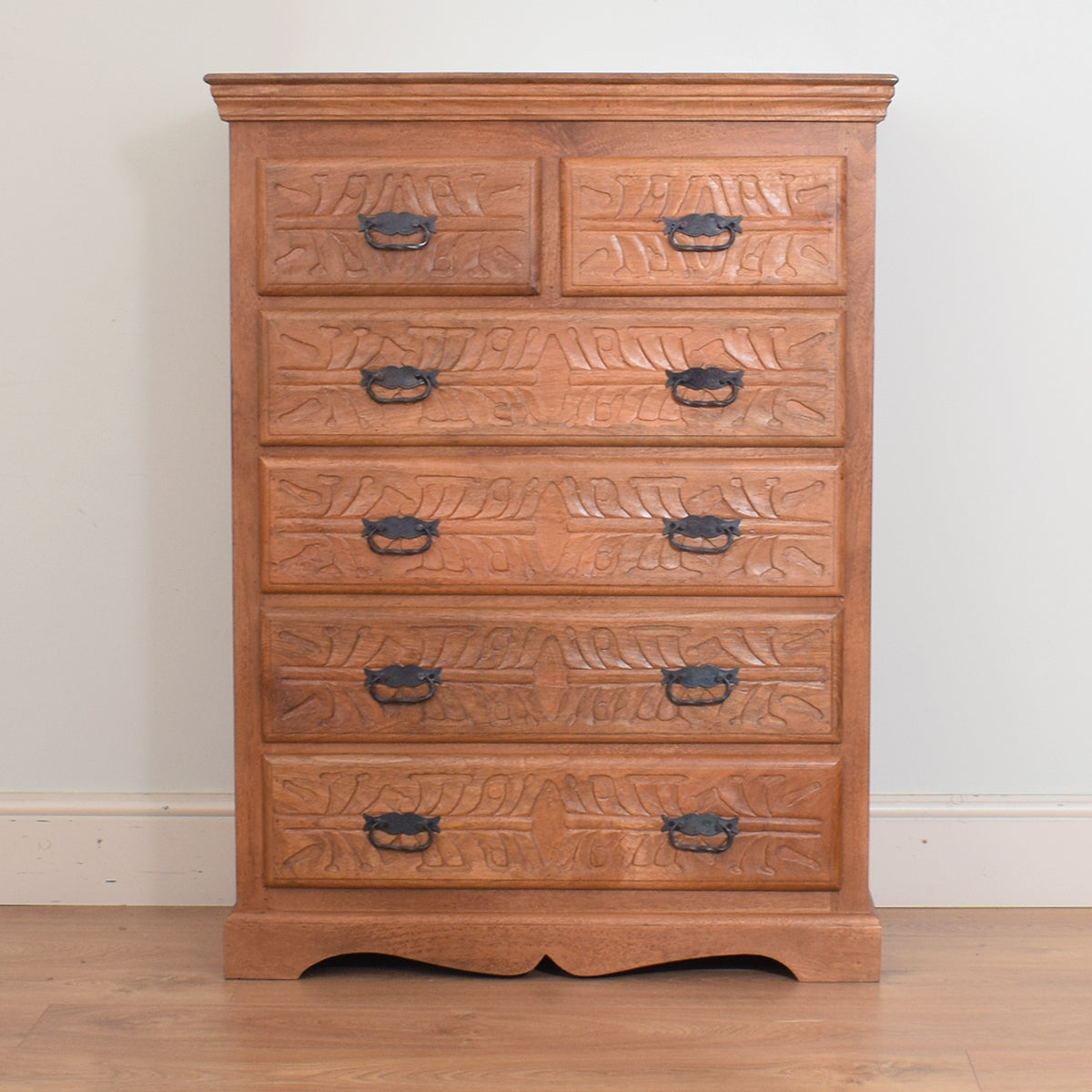 Mango Carved 2/4 Chest of Drawers