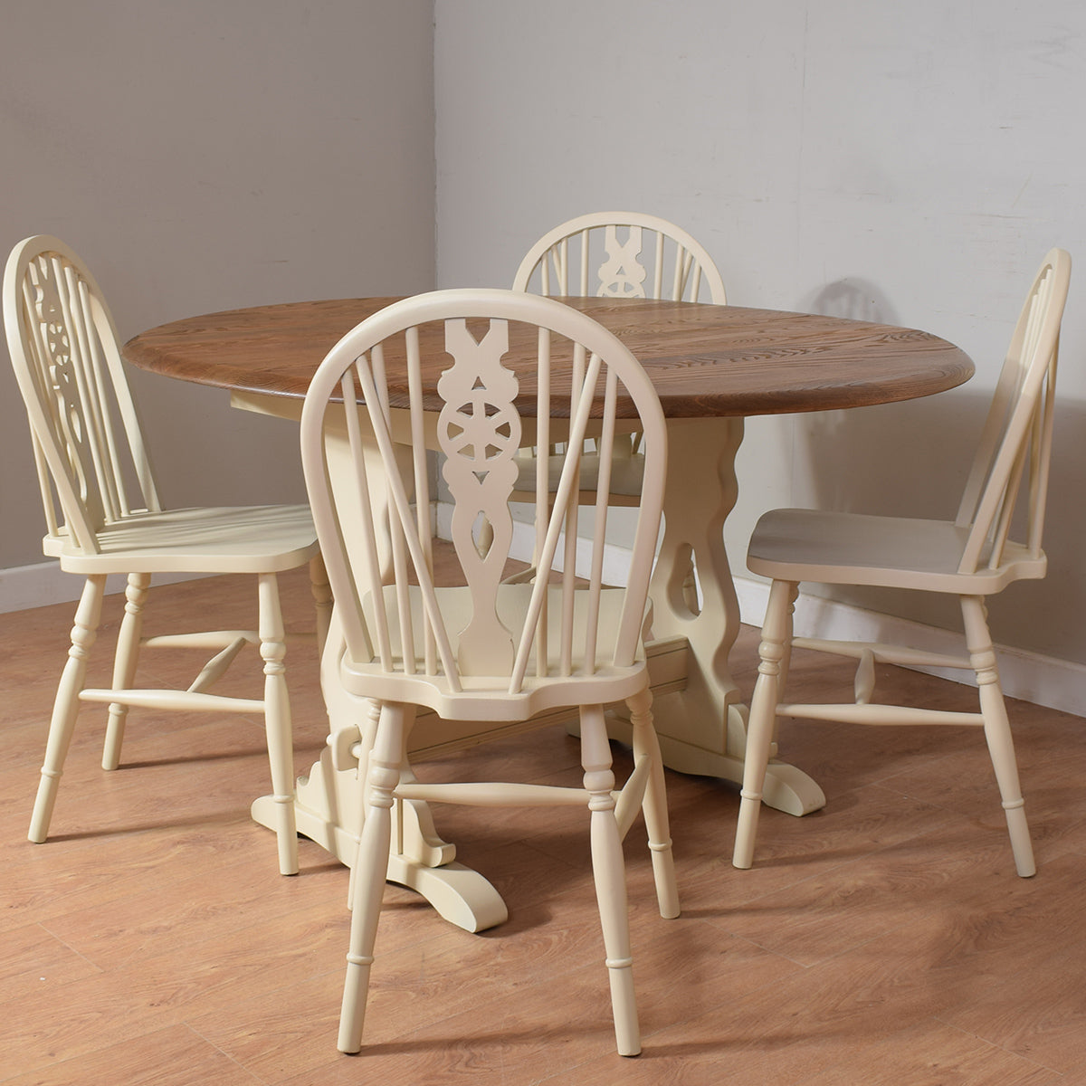 Painted Priory Table and 4 Chairs
