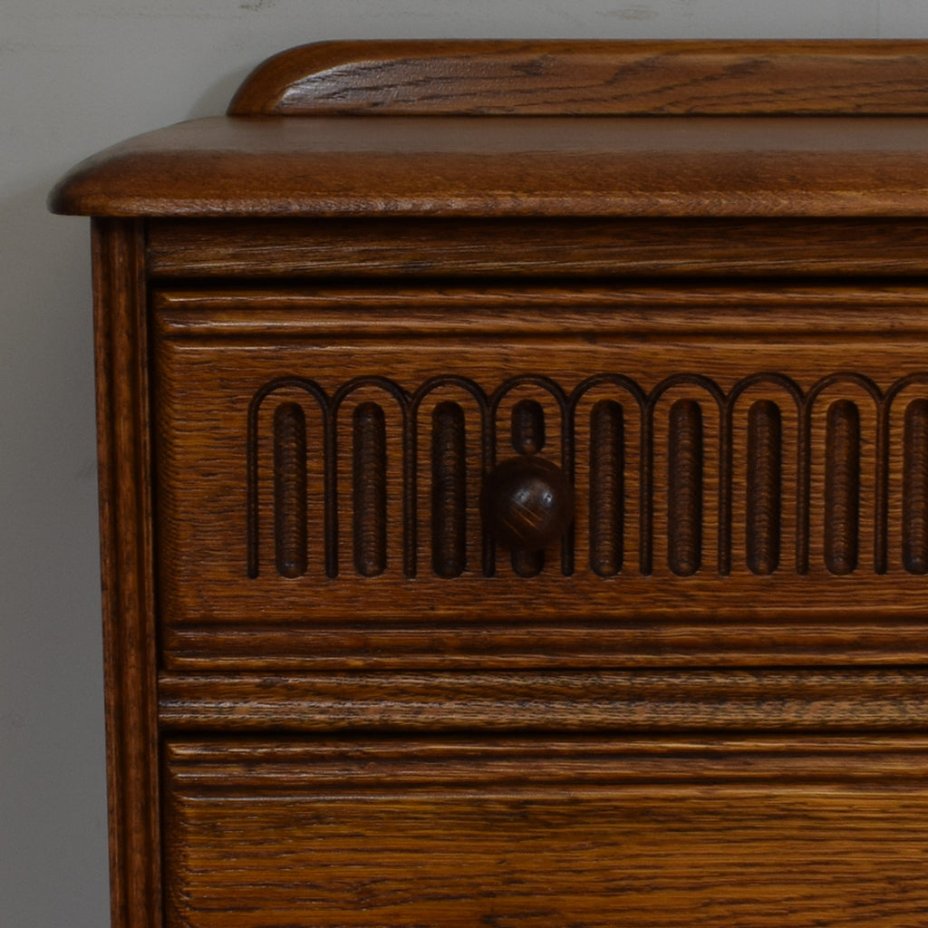 Vintage Oak Priory Chest of Drawers