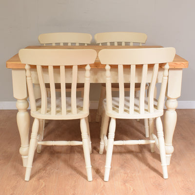 Pine Table & 4 Chairs