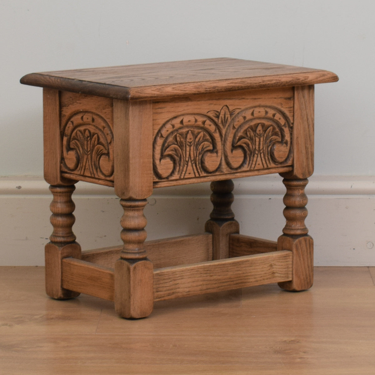 Carved Oak Sewing Box