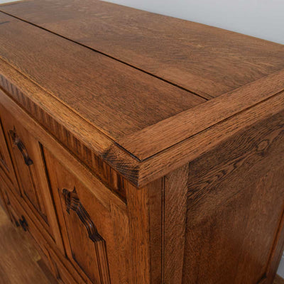 Oak Carved Mule Chest