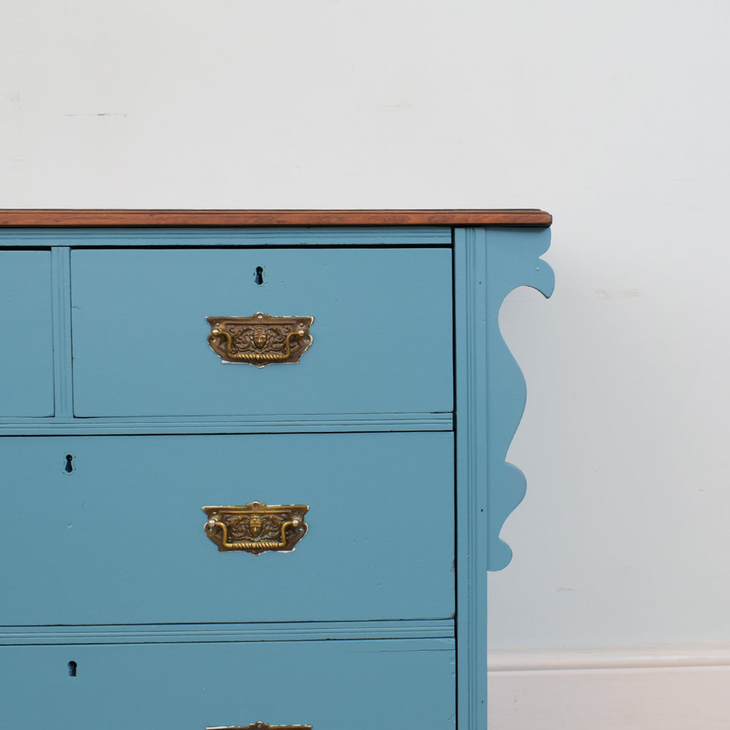 Painted 2 over 2 Chest of Drawers