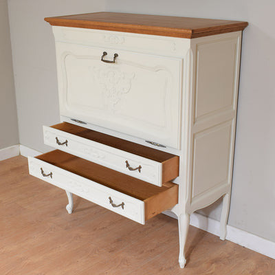 Chic French Painted Drinks Cabinet