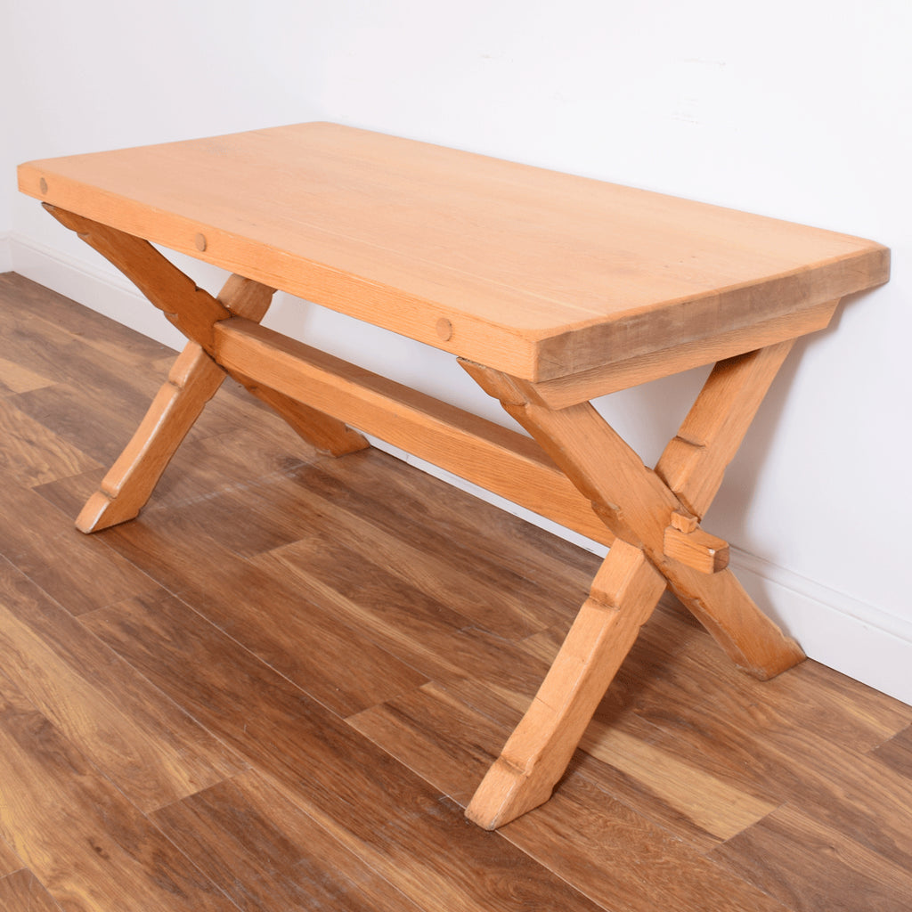 Chunky Oak Table and 4