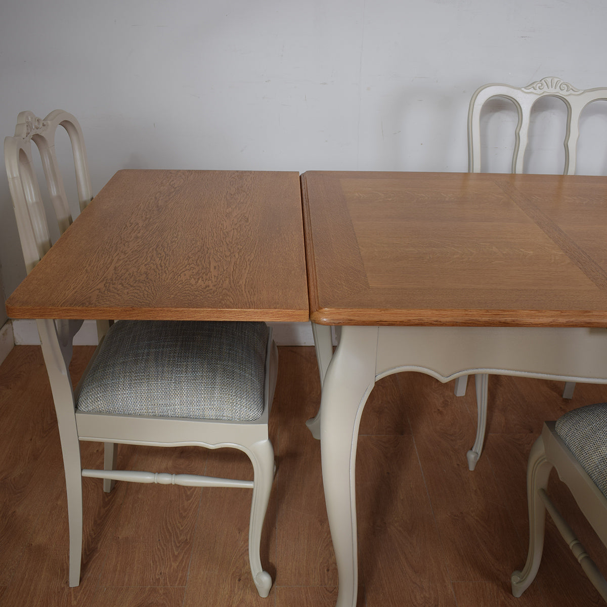 Painted French Table and Four Chairs