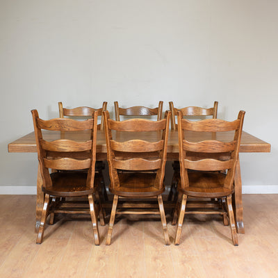 Solid Oak Table And 6 Chairs
