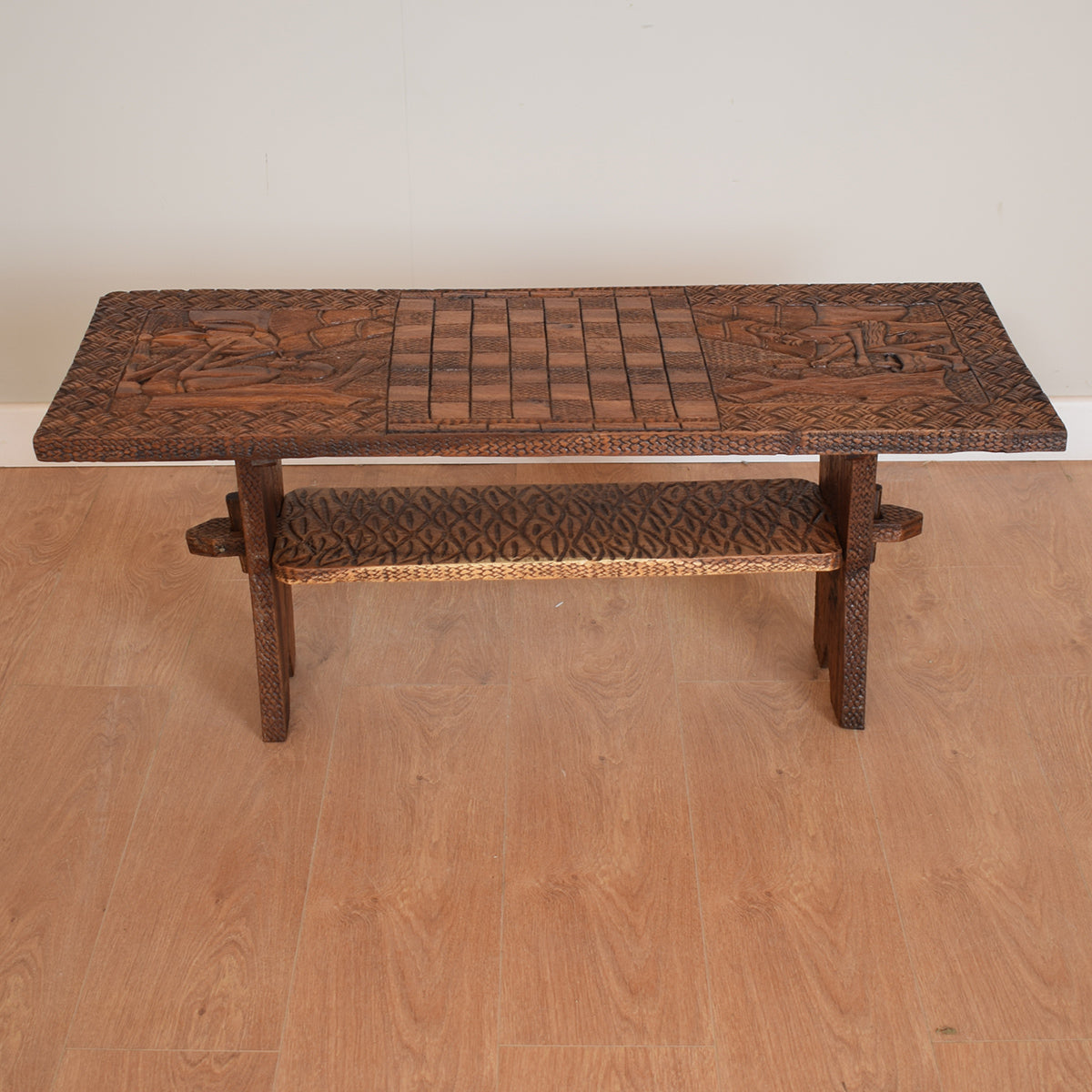 African Style Coffee Table With Chess Board