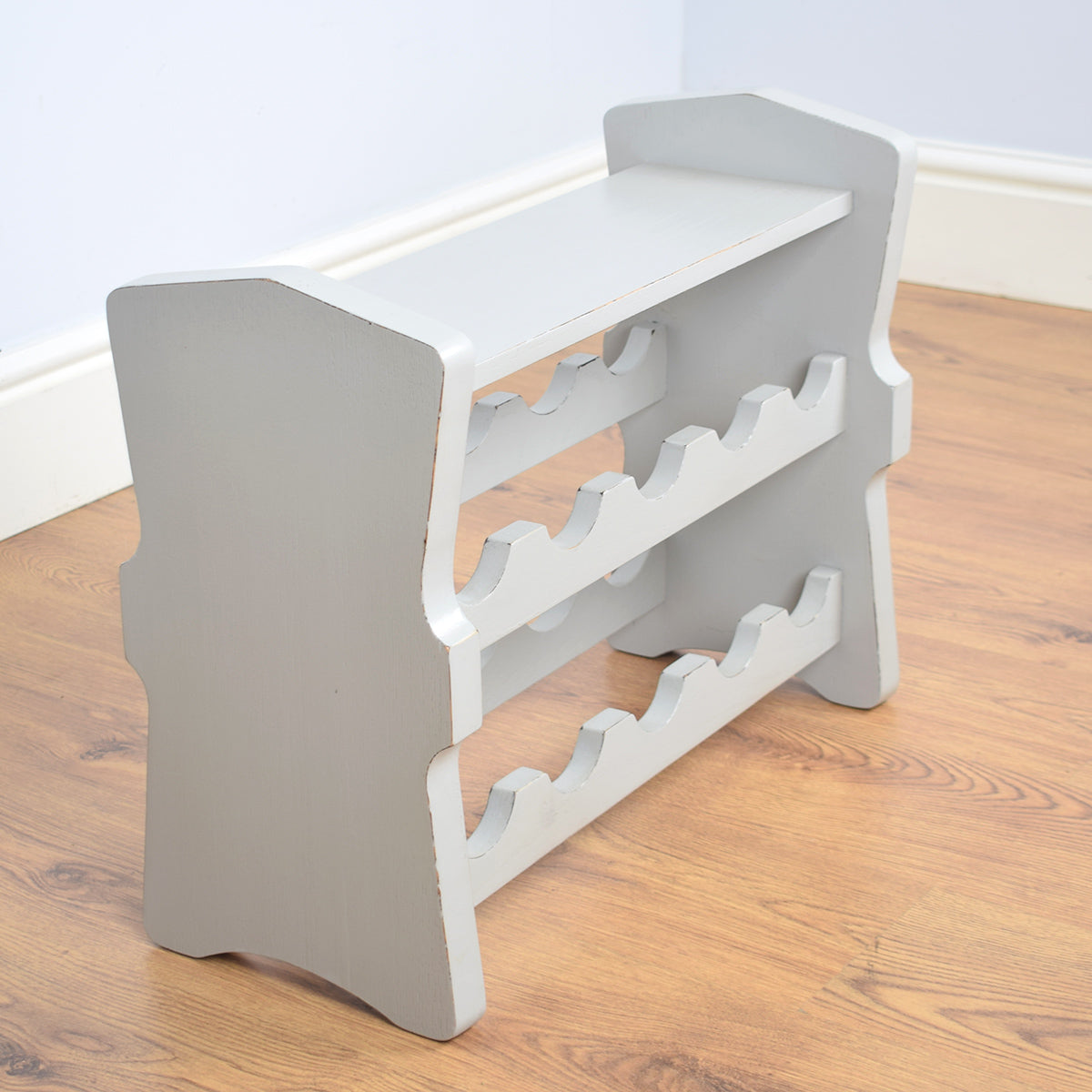 Solid Oak Painted Wine Rack