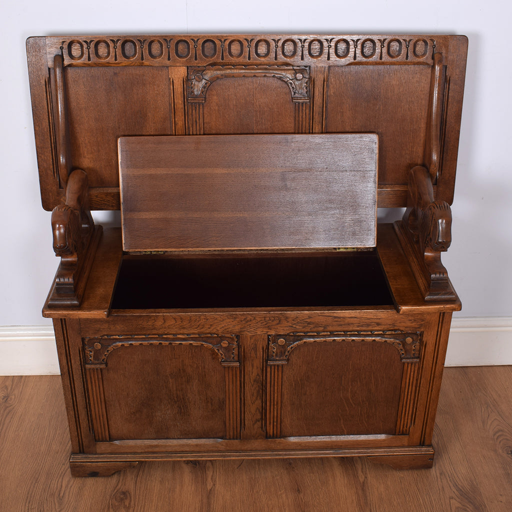 Restored Oak Monk's Bench