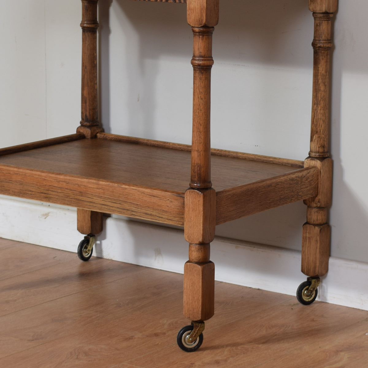 Oak Tea Trolley