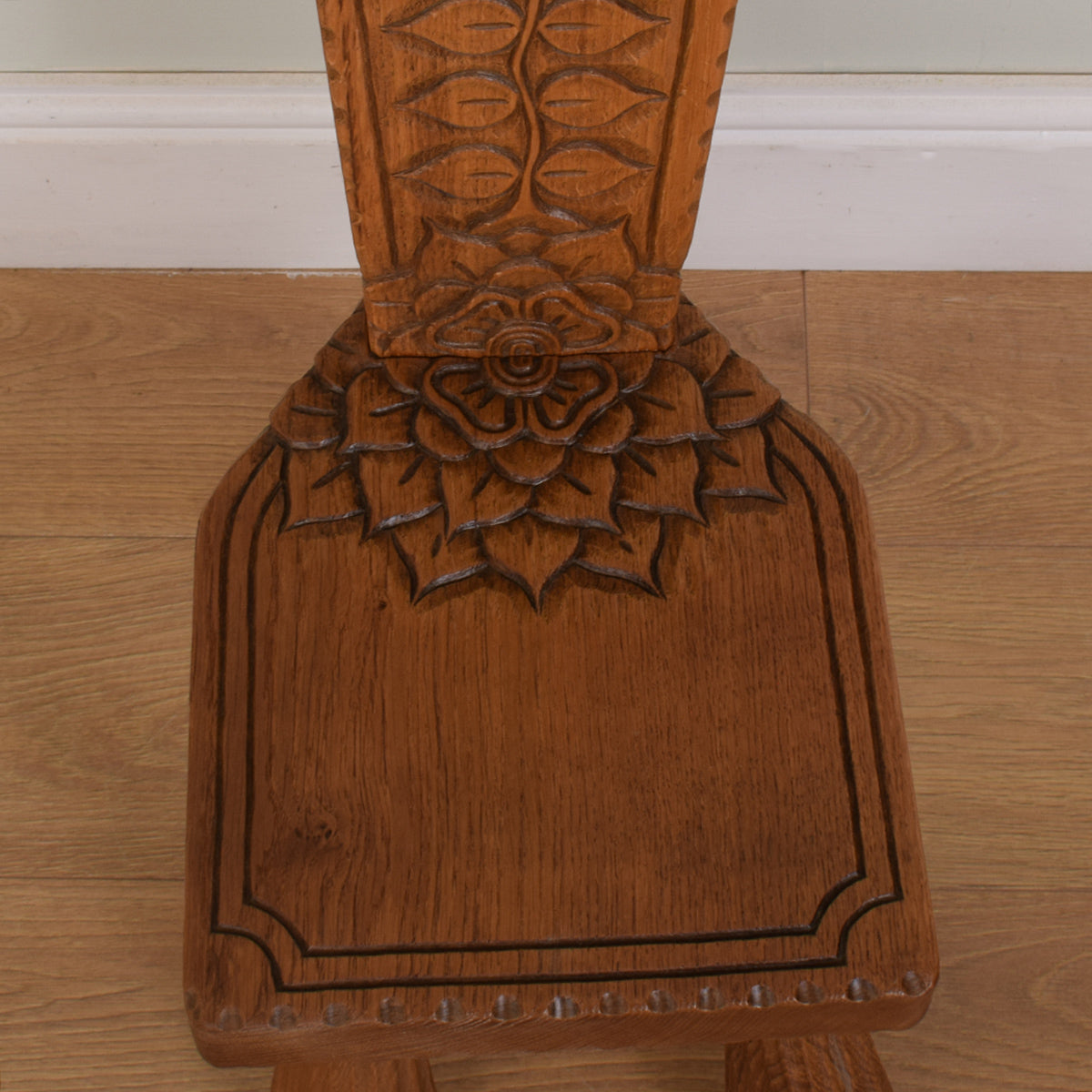 Carved Milking Chair