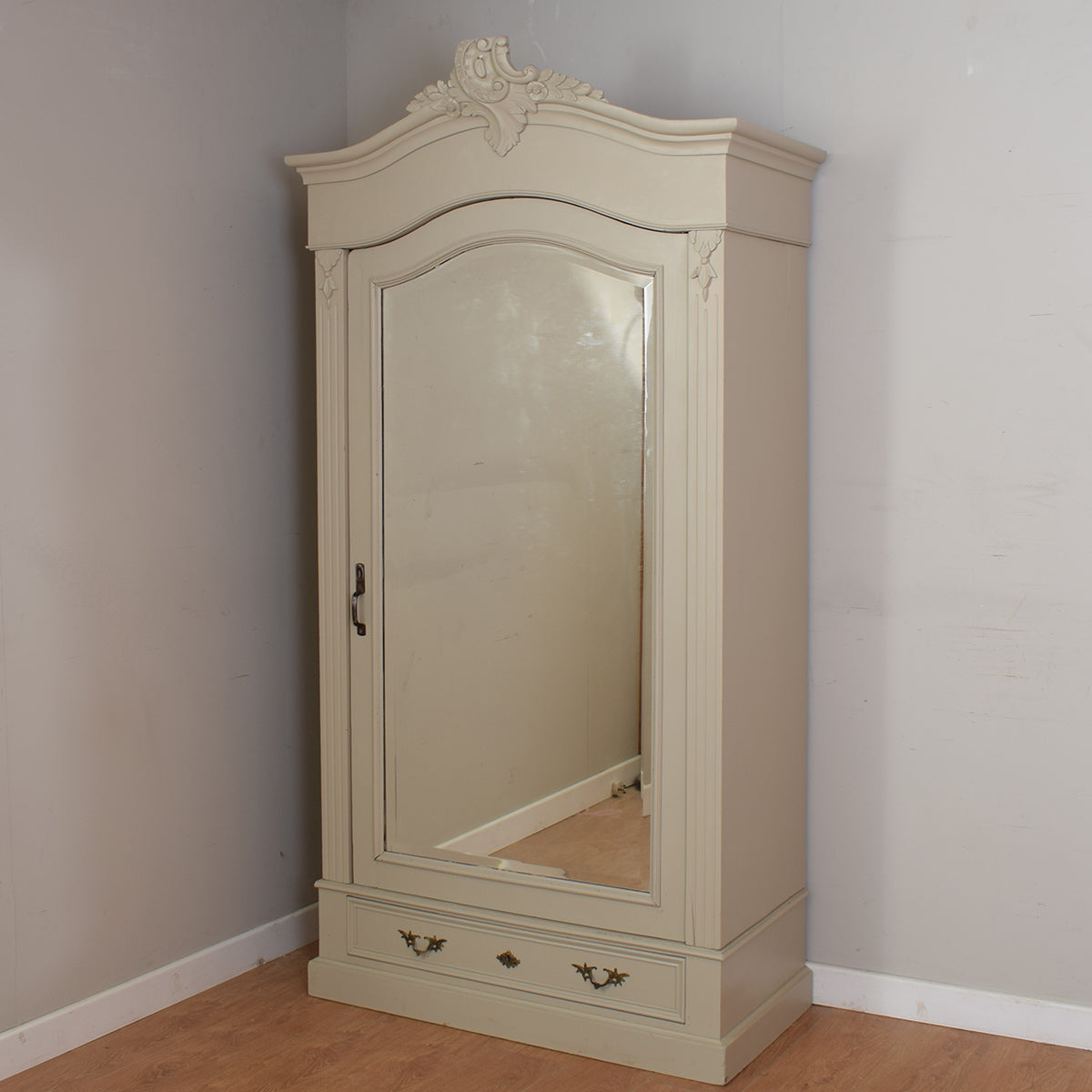 French Mirrored Wardrobe / Armoire