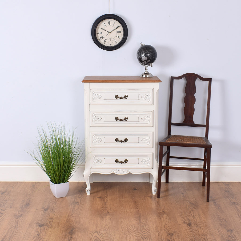 Painted Tall French Chest of Drawers