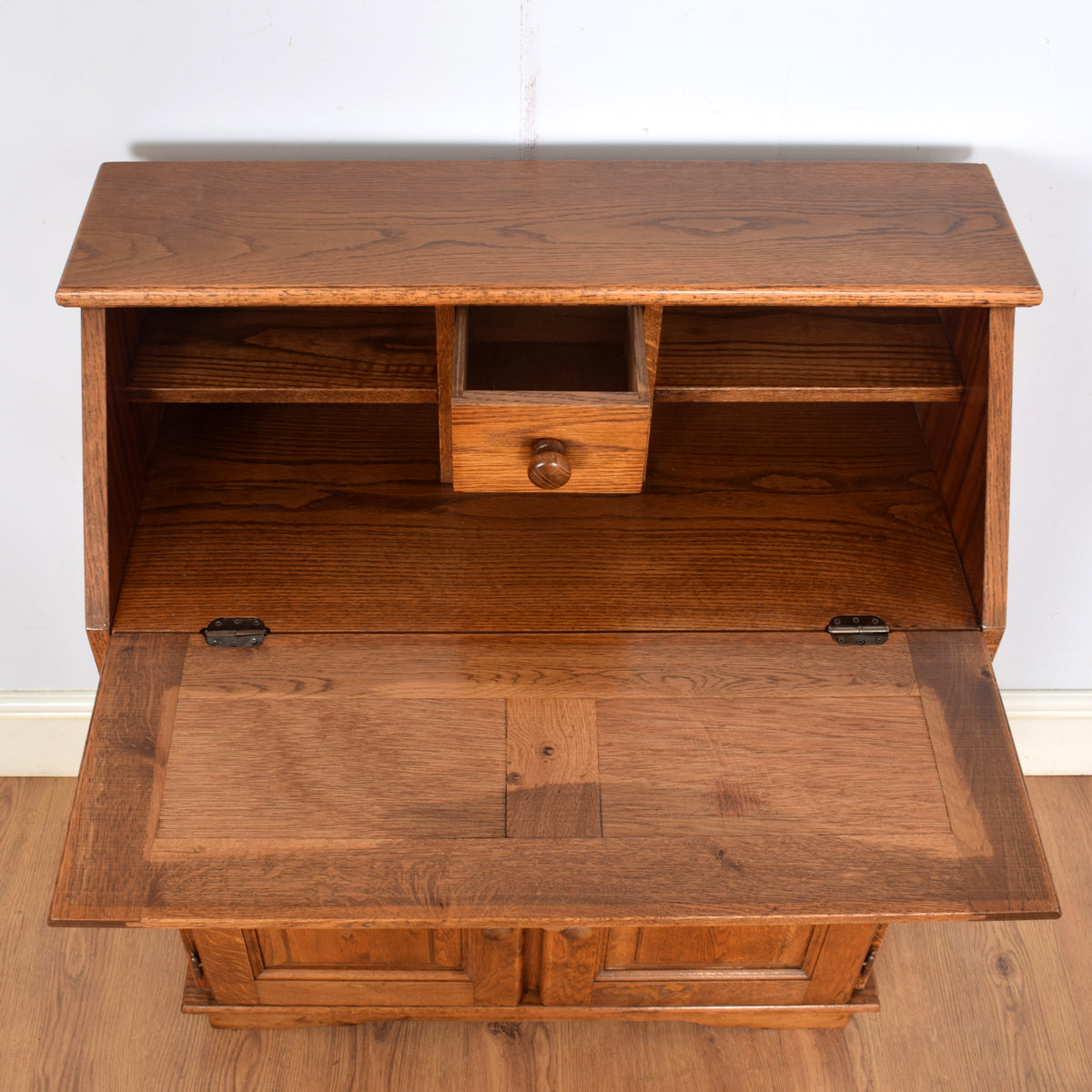 Traditional Dutch Oak Writing Bureau