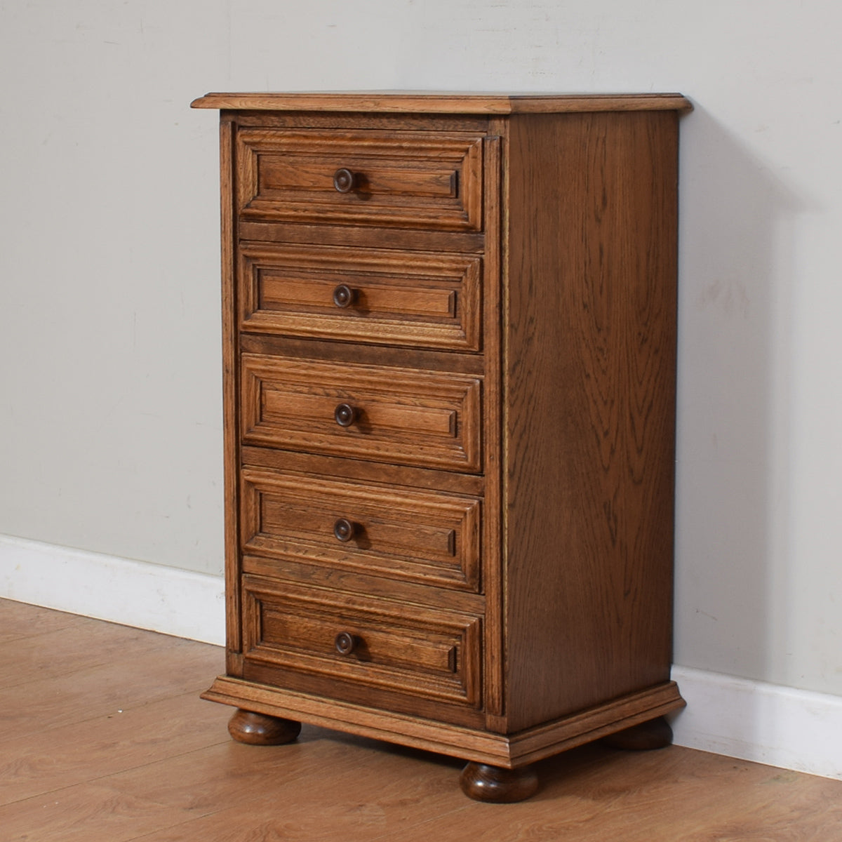 Rustic Oak Chest Of Drawers