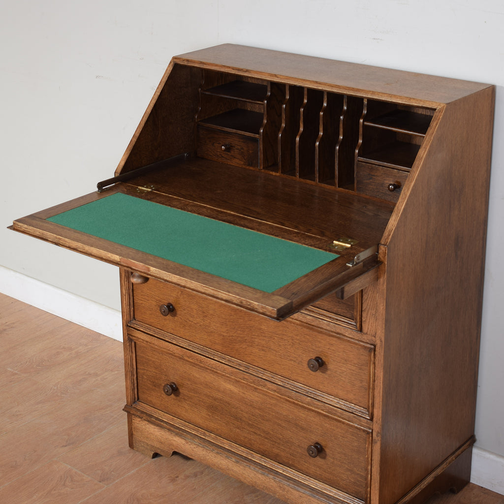 Rustic Oak Writing Bureau