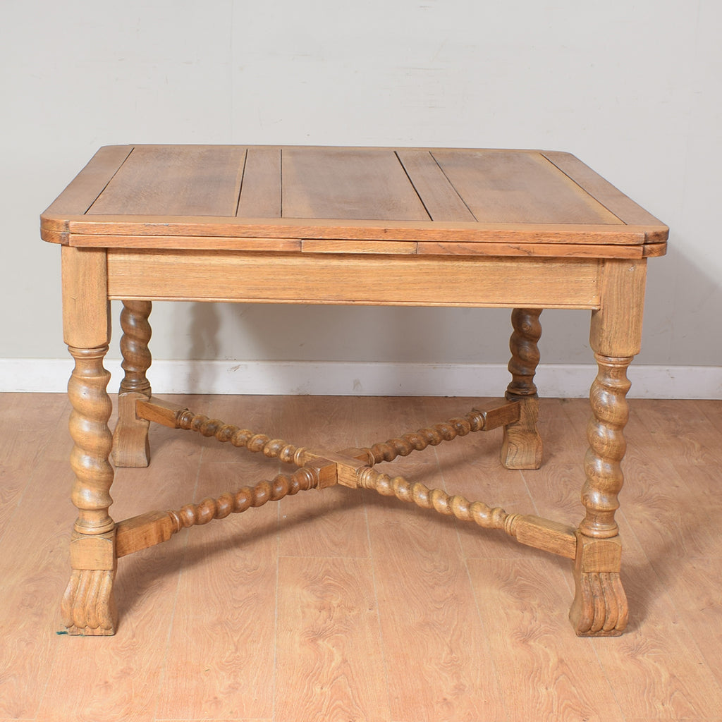 Restored Oak Draw Leaf Table & 4 Chairs