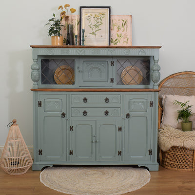 Painted Oak Court Cabinet
