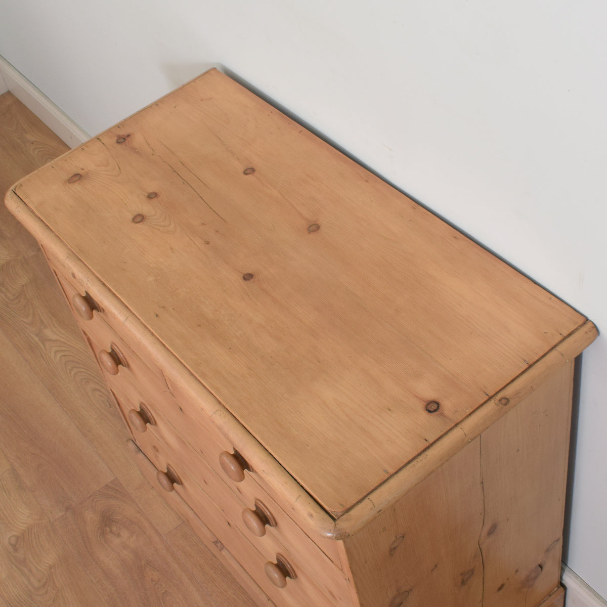 Rustic Antique Pine Chest of Drawers
