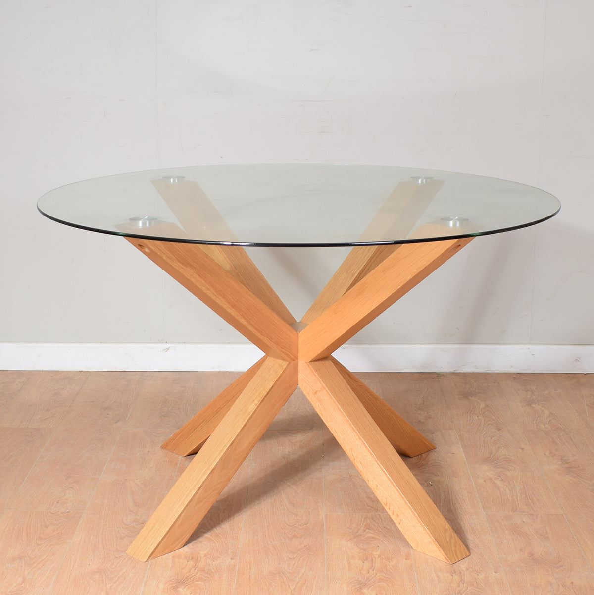 Modern Glass-Top Table & 4 Chairs