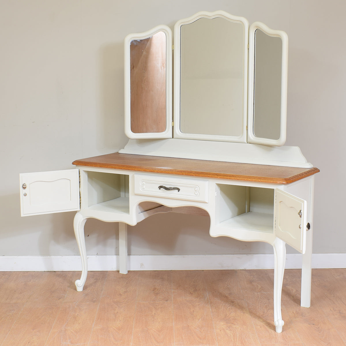 Painted French Louis XV Style Dressing Table