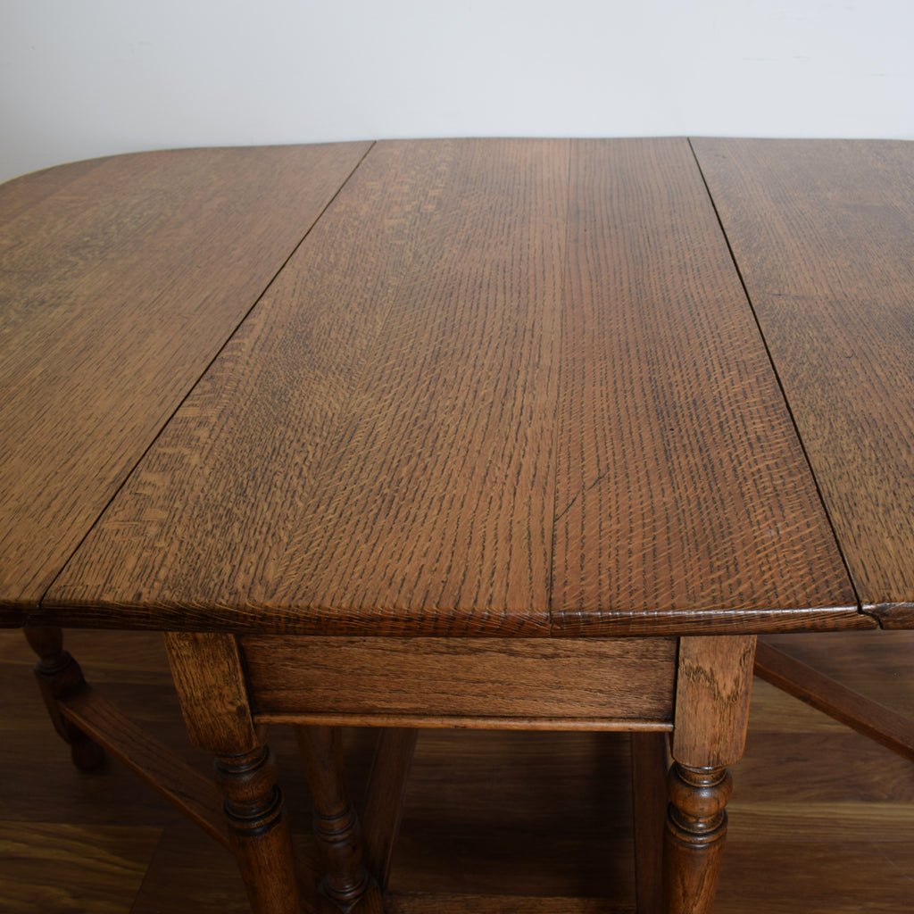 British Oak Drop-Leaf Table & 2 Chairs