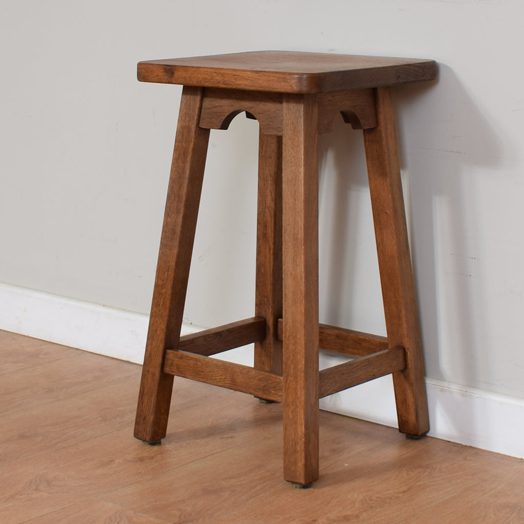 Solid Oak Bar Stool / Side Table
