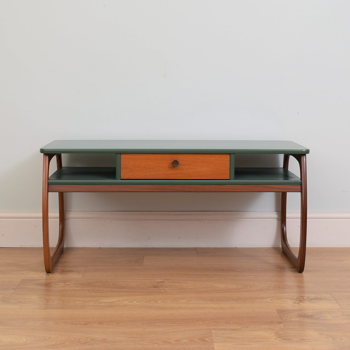 Retro Painted Teak Coffee Table