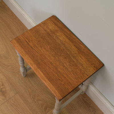 Painted Oak Nest of 3 Side Tables