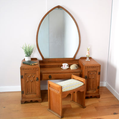 Gothic Style Dressing Table And Stool