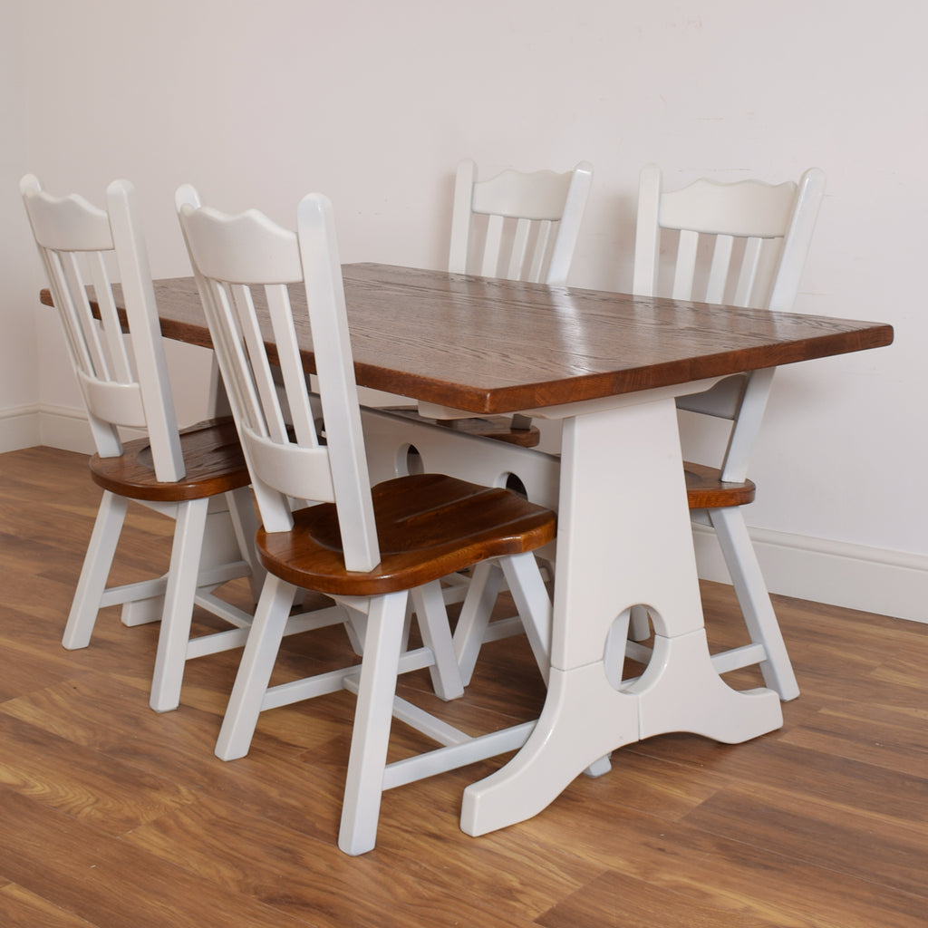 Oak Refectory Table & 4 Chairs