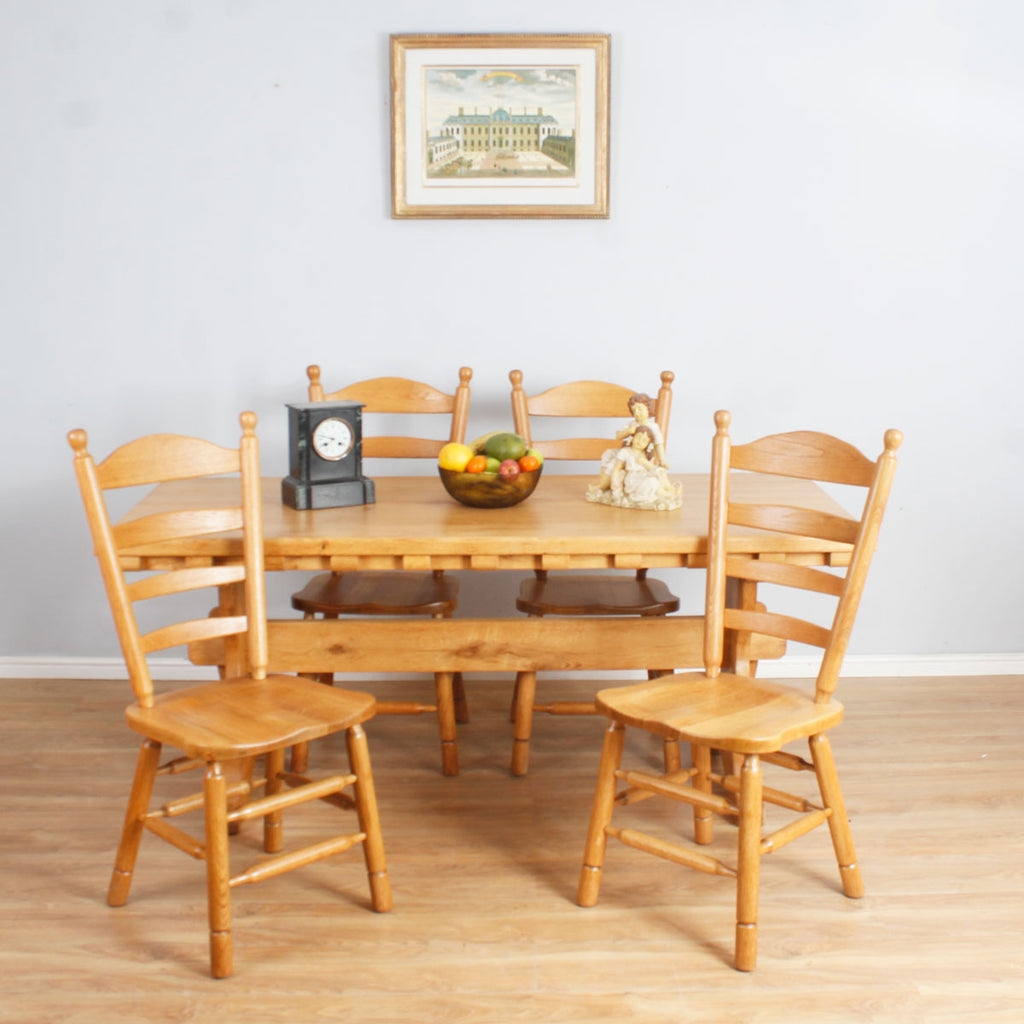 Farmhouse Style Oak Table & Chairs