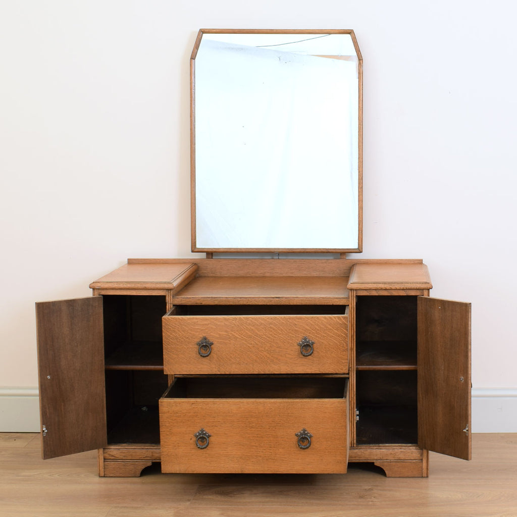Restored Oak Vanity Chest / Dressing Table