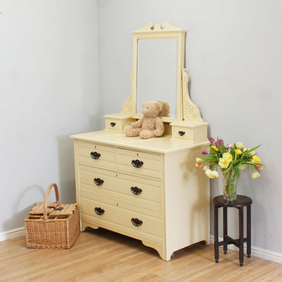 Antique Painted Edwardian Dressing Table