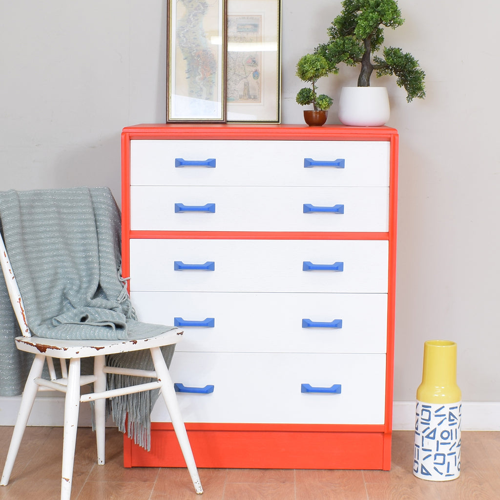 Painted Retro G-Plan Chest Of Drawers