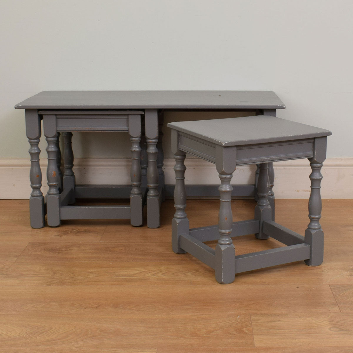 Painted Long John nest of tables