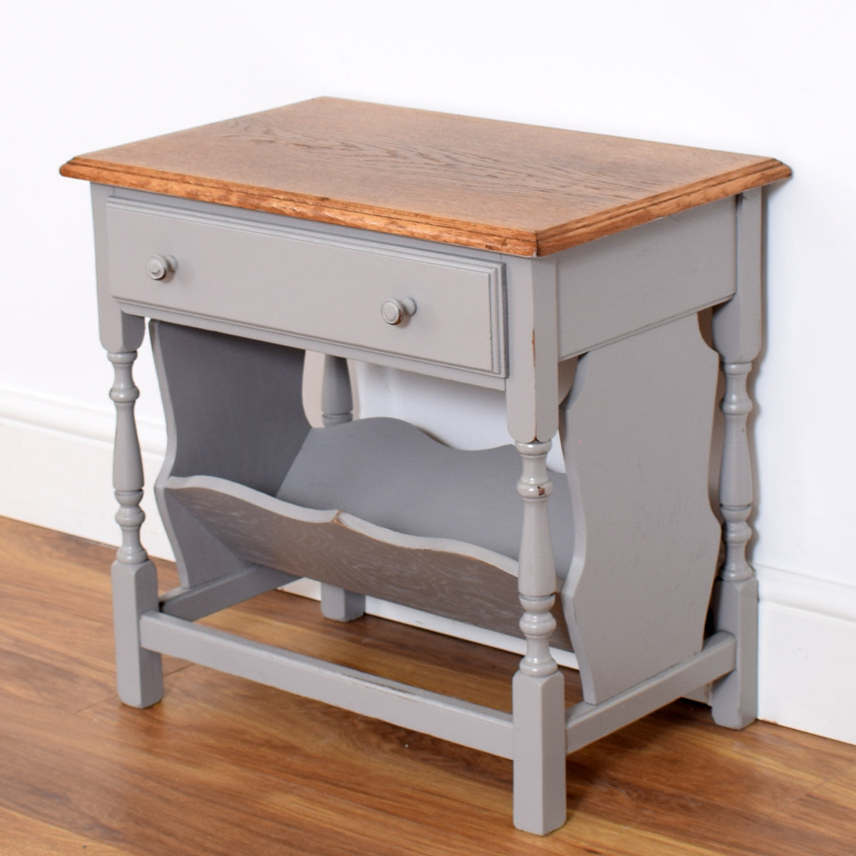 Painted Magazine Rack / Side Table
