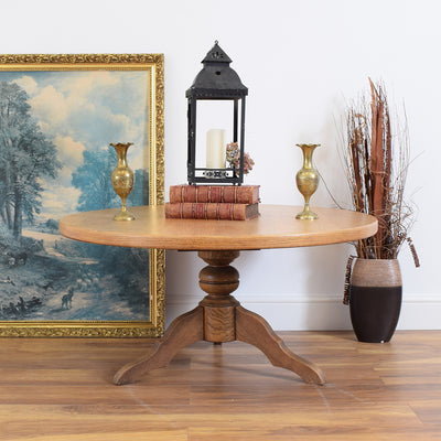 Round Dutch Oak Coffee Table