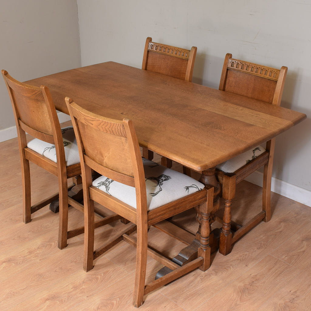 Restored Oak Table & 4 Chairs