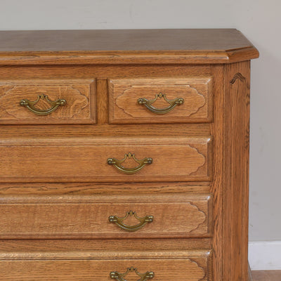 Rustic Oak Vintage Chest Of Drawers