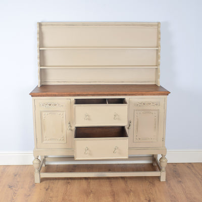Large Painted English Oak Dresser
