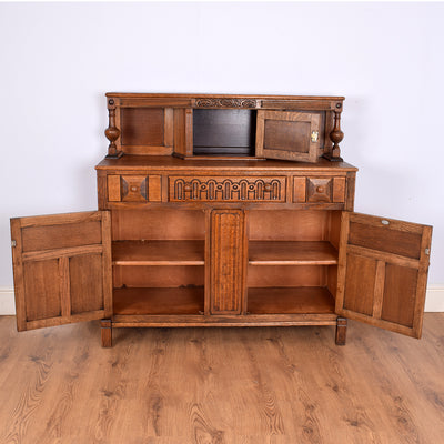 Carved Oak Court Cupboard