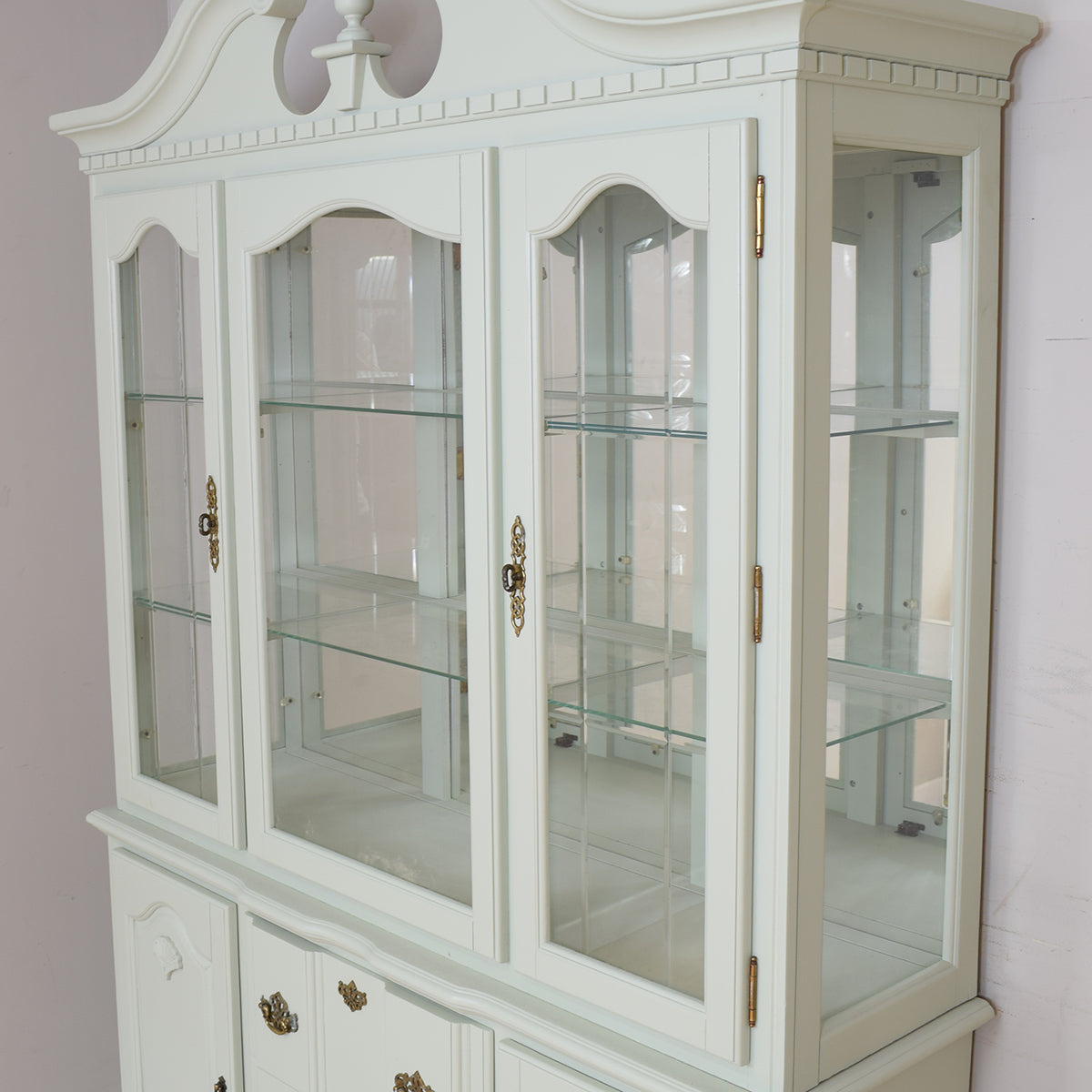 Painted Belgian Dresser / Display Cabinet