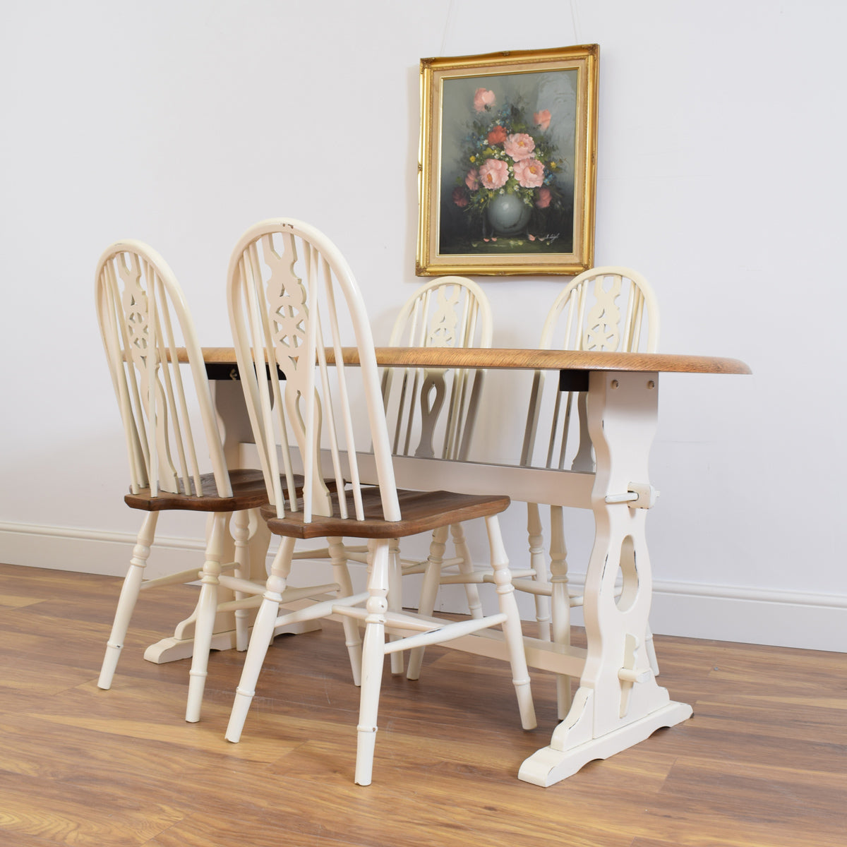 Painted Ercol Table and Four Chairs