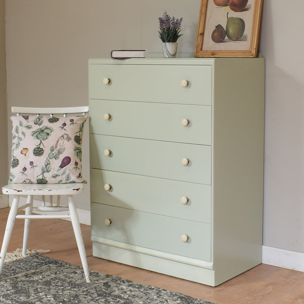 Vintage Painted Chest Of Drawers