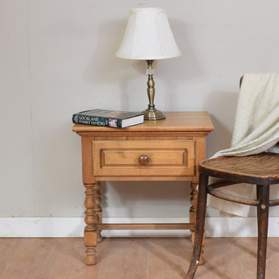 Rustic Oak Lamp Table