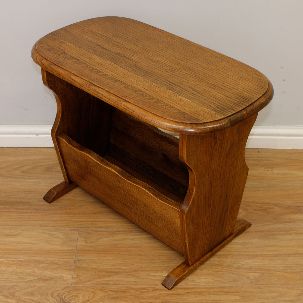 Oak Side Table / Magazine Rack